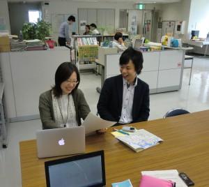 事務局長の高城さんとbaybike事業担当の北川さん